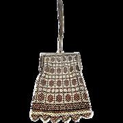 Mandalian Mesh Purse with Unusual Center Strap Handle