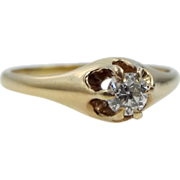 14k Gold 1/4 Carat Solitaire Diamond Ring