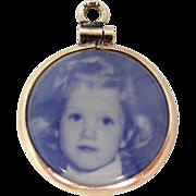 14k Gold Vintage Photo Charm B