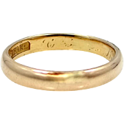 18k Solid Gold Circa 1920 Size 8 Stacking Ring or Wedding Band