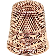 10k Goldsmith Stern & Co. Size 10 Thimble Signed GSC