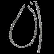 Dorsons Sterling Silver and Crystals Art Deco Necklace & Bracelet