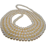 "Gorgeous Opera Length Cultured Freshwater Pearls Necklace 48"" LONG!!"
