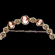 Retro Carved Shell Cameos Bracelet