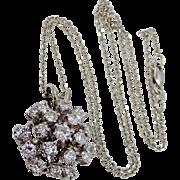3tcw Diamonds 14k White Gold Necklace