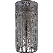 SALE Heisey with Sterling Silver Overlay Water Glass