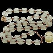 Vintage Camphor Glass Stanhope Necklace