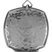 "Art Deco Webster & Co. Sterling Silver ""Margaret"" Locket"