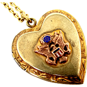 WWII Gold Filled and Enamel U.S. Army Sweetheart Locket