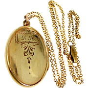 1920's Simmons Gold Filled Locket and Chain