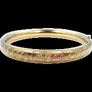 Black Hills Gold by Coleman Gold Filled Bangle Bracelet