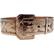 Victorian Buckle Motif Bangle Bracelet