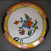 SOLD MEITO Japan Art Deco handpainted display plate