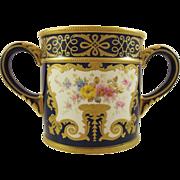 ROYAL CROWN DERBY Tiffany Loving Cup Vase c1891 antique