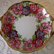 "SALE ROYAL STANDARD ""Carmen"" floral gold-handled pin dish, England"