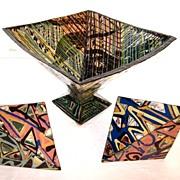 SILVIA ALBU-STANESCU Signed Ceramic Sculpture (3pc) & Catalogue
