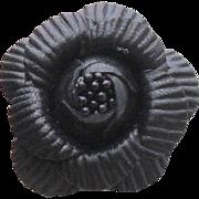 MUSI Shoe Clip - Black Leather Flower