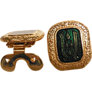 MUSI Shoe Clip | Gold Plated Metal Casting with Emerald Green Epoxy