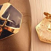 MUSI Hexagonal Shoe Clip with Navy Epoxy