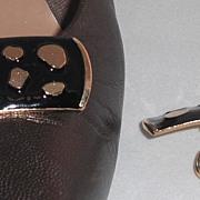 MUSI Black Epoxy Leopard Shoe Clip