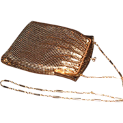 Vintage 1960s Whiting & Davis Gold Mesh Purse