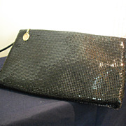 Whiting & Davis Black Metal Mesh Purse