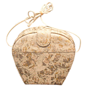 MUSI Clam Shell Style Purse - Gold Silver White