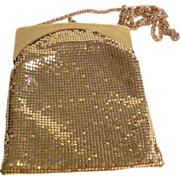 Whiting & Davis Gold Metal Mesh Purse