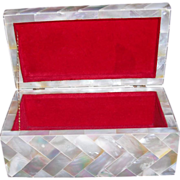 REDUCED Wonderful Mother of Pearl Box