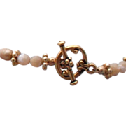 """Beige Freshwater Pearl and Natural Mother of Pearl Bracelet - 7.5"""""""
