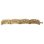 Crown Trifari Modernistic Bracelet -7""