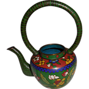 REDUCED Old Asian Miniature Cloisonné Teapot