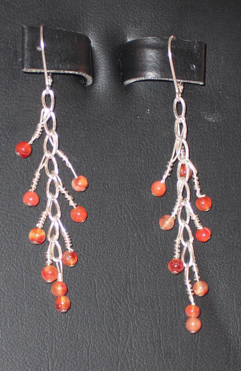 Carnelian and Sterling Earrings - Pierced