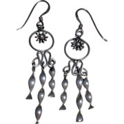Swinging Sterling Silver Earring - Pierced