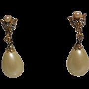 KJL for Laguna Large Pear Shaped Faux Pearl Dangle – Pierced Earring
