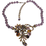 """Unsigned Heidi Daus Crystal-Accented Necklace – 19"""" +"""