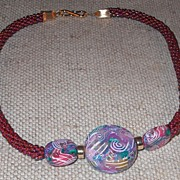 Iridescent Burgundy Necklace