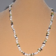Freshwater Pearls with Semi Precious Chips