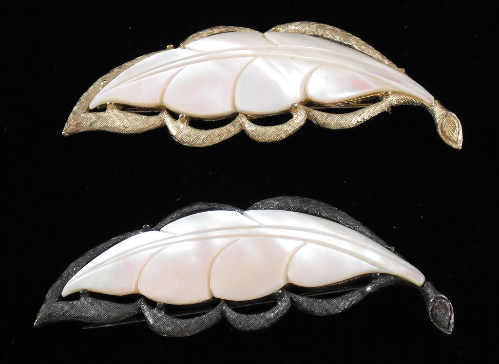 Two Mother of Pearl Leaves