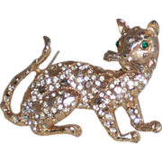 REDUCED Three Dimensional Leopard Pin/Brooch