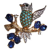 Jomaz Bird on Branch Pin Brooch