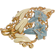 Crown Trifari Morning Glory Fur Clip by Alfred Philippe