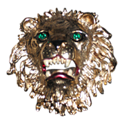 Lion Head Brooch Unsigned by Sphinx Of England