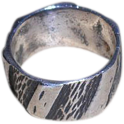 SOLD Sterling Silver Band Ring - size 5.5