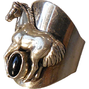 Outstanding Carol Felley Sterling Horse Ring - 8