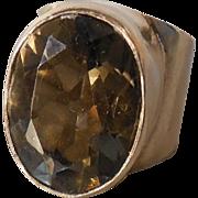 Smokey Quartz Sterling Silver Ring – 5.5