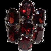 Vintage Rubellite Tourmaline Sterling Ring – 5.75