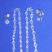 Facetted Crystal Beaded Demi  Parure