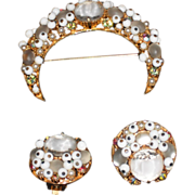 Florenza Pin and Clip Earrings