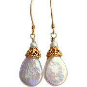 SOLD Freshwater Pearl and Gold Vermeil Earrings